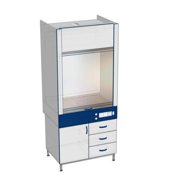 Шкаф вытяжной общего назначения ШВЯ (серия Стандарт)  от завода лабораторной мебели