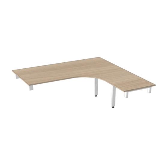 Офисный стол МО-С9 размеры 1500х(700)х1500(500)х750(110) мм